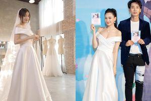 Hari Won mặc lại váy cưới của Nhã Phương để đi dự sự kiện?