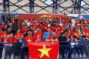 Không khí bên trong SVĐ diễn ra trận Việt Nam vs Nhật Bản trước giờ G