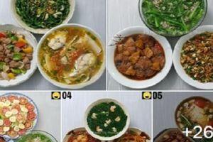 Chấm dứt chuỗi ngày đau đầu tối nay ăn gì với thực đơn cơm tối 30 ngày của mẹ Hà thành
