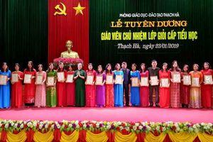 Hà Tĩnh: Tuyên dương 82 giáo viên chủ nhiệm lớp giỏi cấp tiểu học