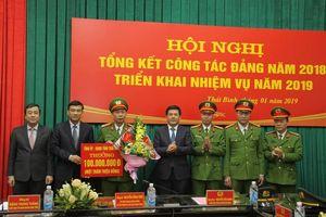 Thái Bình: Khen thưởng lực lượng công an bắt giữ nghi phạm cướp ngân hàng