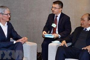 Thủ tướng tiếp lãnh đạo các Tập đoàn đa quốc gia bên lề WEF Davos