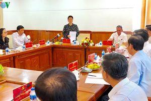 Chủ tịch Quốc hội làm việc với Lãnh đạo tỉnh Hậu Giang