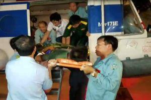 Bệnh viện Quân y 175 điều trị một chiến sĩ bị thương trên đảo Thổ Chu