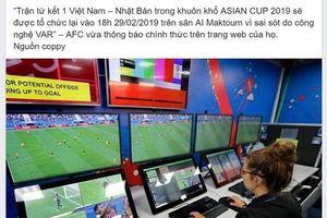 Xôn xao tin đồn Việt Nam và Nhật Bản sẽ đá lại trận tứ kết Asian Cup