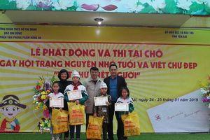 Phát động Ngày hội Trạng nguyên nhỏ tuổi và Viết chữ đẹp Nét chữ - Nết người tỉnh Yên Bái năm học 2018-2019