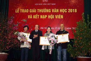 Ba tác phẩm đoạt giải thưởng Hội Nhà văn Việt Nam 2018