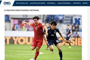 Công Phượng lọt top 5 cầu thủ xuất sắc nhất vòng tứ kết Asian Cup 2019