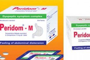 Đình chỉ lưu hành thuốc Peridom-M do không đạt chất lượng