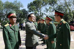 Bí thư Thành ủy Hà Nội kiểm tra công tác trực chiến đấu dịp Tết tại Trung đoàn bộ binh 692