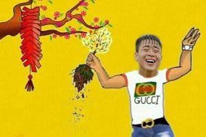 Ảnh chế sự khác nhau giữa Tết xưa và nay của tuyển thủ Việt Nam