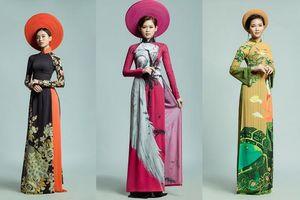Chùm ảnh Top 18 Miss UEF khoe dáng trong tà áo dài thướt tha trong BST áo dài của NTK Việt Hùng