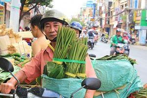 Chợ lá dong Tết Sài Gòn kém sôi động