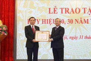 Trao Huy hiệu Đảng tặng các đảng viên thuộc Đảng bộ Văn phòng Trung ương Đảng