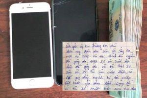 Kẻ cướp tự trả lại 'khổ chủ' 100 triệu cùng 2 chiếc điện thoại vì 'cắn rứt lương tâm'