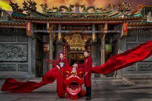 Ảnh cưới đậm không khí Tết của cặp diễn viên Anh Tài - Vũ Ngọc Ánh
