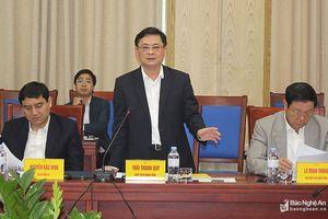 Đẩy nhanh việc phối hợp triển khai xây dựng quy hoạch tỉnh Nghệ An