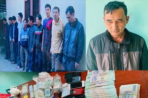 Thanh Hóa: Phá sới bạc 'đánh liêng', bắt giữ 10 đối tượng