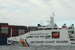 Cảnh sát biển cứu tàu Singapore bị cháy