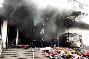 Cháy chợ trung tâm Thái Nguyên, thiệt hại khoảng 500 triệu đồng