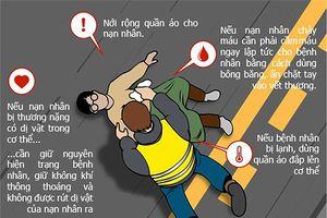Cách sơ cứu tai nạn giao thông ngày Tết