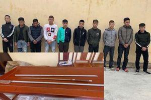 Đã bắt được toàn bộ 10 đối tượng dùng dao, kiếm truy sát người ở Sầm Sơn
