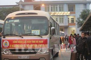 Hà Nam tổ chức xe miễn phí chở 1000 công nhân về quê đón Tết