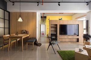 Căn hộ 100 m2 mang phong cách công nghiệp tươi sáng