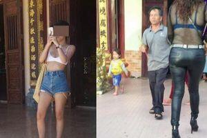 Mặc váy ngắn, xuyên thấu đi chùa, người đẹp Việt phản ứng ra sao?