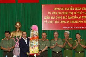 Bí thư Nguyễn Thiện Nhân thăm, chúc Tết các đơn vị trên địa bàn TP HCM