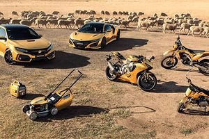 Honda 'mạ vàng' dàn ôtô, xe máy kỷ niệm 50 năm tại Úc