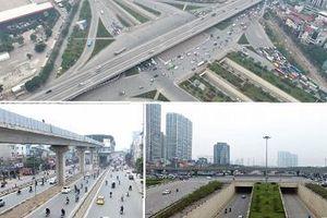 Những nút giao hiện đại làm thay đổi diện mạo Thủ đô nhìn từ flycam
