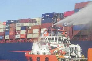 Ninh Thuận: Khống chế thành công đám cháy trên tàu hàng nước ngoài