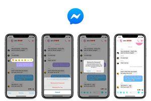 Facebook phát hành tính năng thu hồi tin nhắn cho người dùng