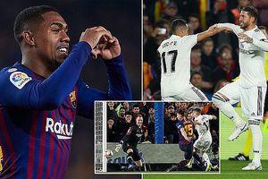 Barcelona - Real Madrid 1-1: Vazquez khai màn, Malcom cầm chân Real