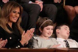 Cậu bé khách mời ngủ say trong lúc Tổng thống Mỹ đọc Thông điêp Liên bang