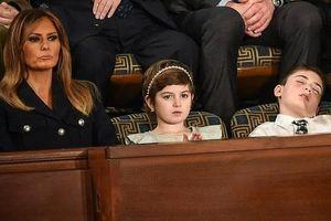 Vị khách đặc biệt Nhà Trắng ngủ gật khi ông Trump phát biểu