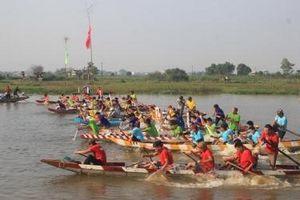 Quảng Trị: Sôi nổi hội đua thuyền đầu Xuân trên sông Hói Sòng