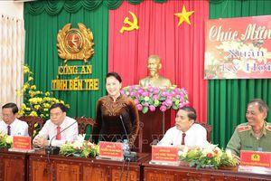 Chủ tịch Quốc hội chúc Tết tại Tiền Giang và Bến Tre