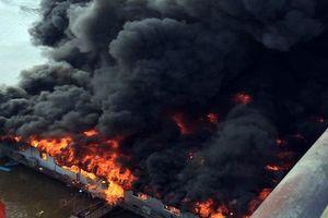 Nhà hàng nổi trên sông Lô bị thiêu rụi ngày mùng 6 Tết