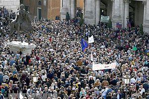 Biểu tình quy mô lớn ở Italy phản đối chính sách kinh tế của chính phủ
