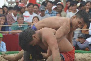 Tưng bừng Hội vật truyền thống làng Thủ Lễ