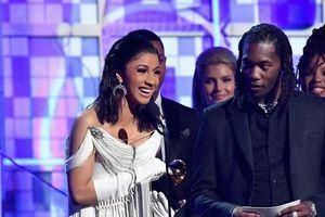 Lần đầu đoạt Grammy, rapper tai tiếng Cardi B phát biểu quá khích
