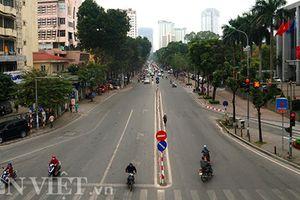 Đường phố Hà Nội vắng vẻ lạ thường ngày đầu sau kỳ nghỉ Tết