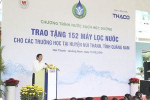 Nguyên Chủ tịch nước Trương Tấn Sang trao 152 máy lọc nước cho học sinh