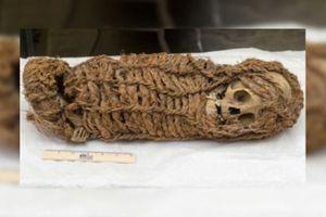 Cận cảnh xác ướp trẻ em 2.000 năm tuổi mà Mỹ vừa trả lại cho Peru
