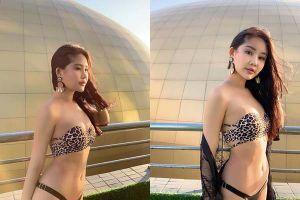 Lê Âu Ngân Anh diện bikini, khoe đường cong nóng bỏng dịp năm mới