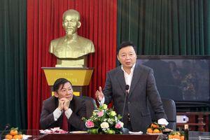 Bộ trưởng Trần Hồng Hà làm việc với Sở TN&MT tỉnh Ninh Bình