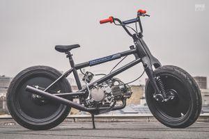 Honda Cub 'biến hình' thành xe BMX