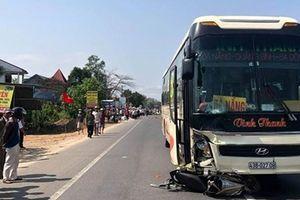 Bắt tài xế xe khách tông chết 2 cha con trên QL1